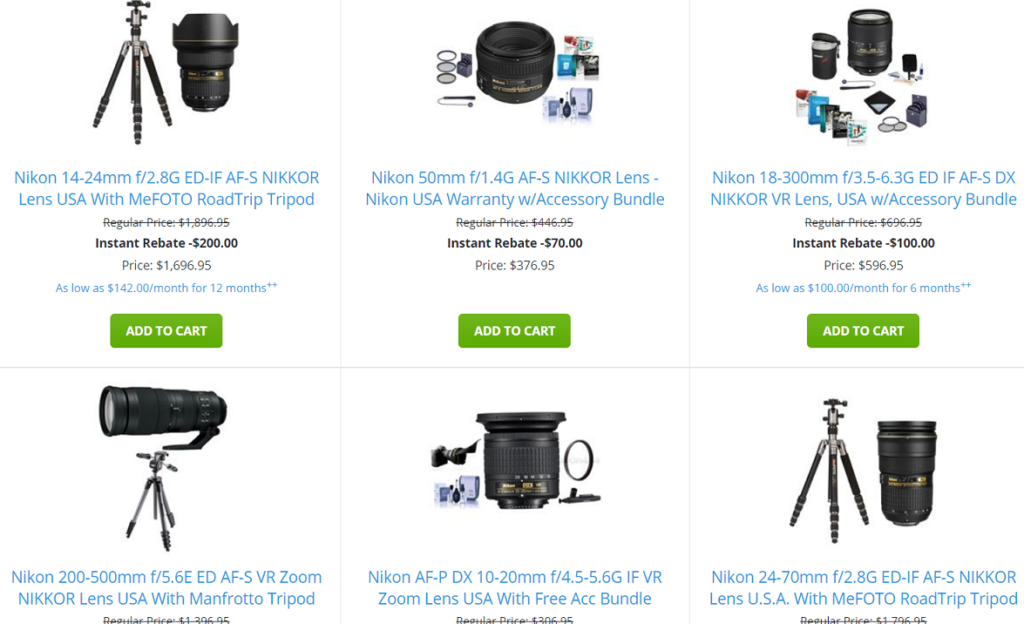 New Nikon Lens Only Rebates are now Live: Up to $200 off