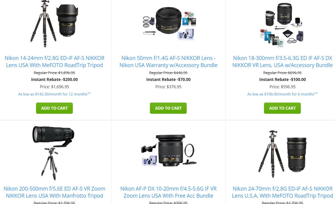 New Nikon Lens Only Rebates Are Now Live Up To 200 Off Af 50mm F 18d Nikkor Camera Rumors
