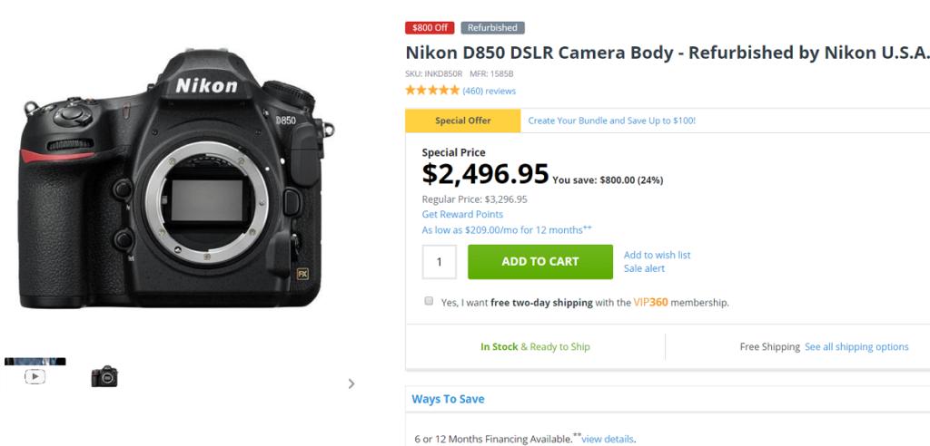 Deal: Refurbished Nikon D850 Body for $2,497 at Adorama | Nikon