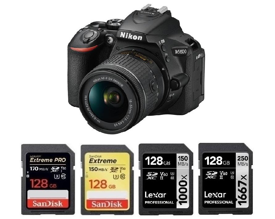 128GB Memory card for Nikon D5600 SLR Camera 95MB//s Class 10 SDXC